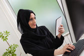 Arabic business woman Working — Stock Photo