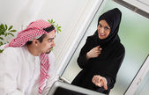 Arabic Business Couple In Office — Stock Photo