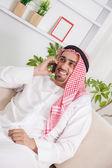 Middle Eastern Man Having Phone Conversation — Stock Photo
