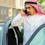 Arabian man Getting In Car — Stock Photo #50476347