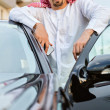 Arabian man Standing Next To Car — Stock Photo #50476485