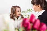 Little girl and mother for Mother's day — Stock Photo