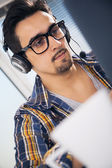 Software engineer working in office — Stock Photo
