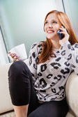 Woman Speaking On Smart Phone — Stock Photo