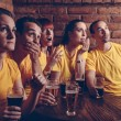 Sport Fans In Pub — Stock Photo