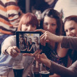 Young Cheerful Friends In Pub — Stock Photo #50495831