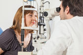 Ophthalmologist With Mature Woman — Stock Photo