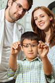 Boy Showing Glasses — Stock Photo