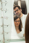 InWoman With Ophthalmologist — Stock Photo