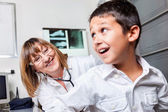 Boy and Female Pediatrician Doctor — Stock Photo