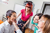 Boy, Mother And Pediatrician On Medical Exam — Stock Photo
