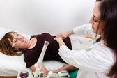 Gynecologist Examines Mature Woman — Stock Photo