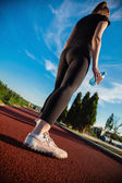 Woman On Jogging Track — Stock fotografie