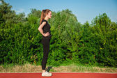 Woman On Jogging Track — Foto Stock