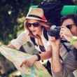 Tourists Sightseeing City — Stock Photo #50501035