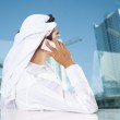 Middle Eastern businessman talking on phone — Stock Photo #50506655