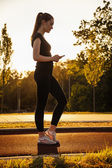 Woman  On Jogging Track — Photo