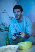 Young Man Playing Video Games  — Stock Photo