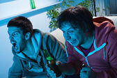 Men watching sports competition — Stock Photo