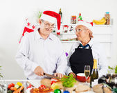 Christmas Dinner Preparation — Stock Photo