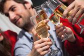 People having toast on new year's eve — Stock Photo