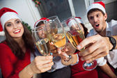 People having toast on new year's eve — Stock Photo