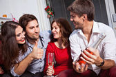 People celebrating new year — Stock Photo