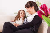 Girl and mother for Mother's day — Stock Photo