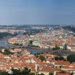 View to the Prague city from the Petrin Hill — Stock Photo
