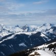 Stock Photo: Big mountains with snow in winter - Alps