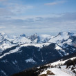 Big mountains with snow in winter - Alps — Stock Photo