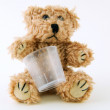 Sick Teddy — Stock Photo