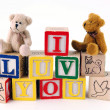 I Luv You with Bears — Stock Photo