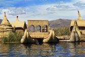 Titicaca Lake, floating islands Uros in Peru — Stock Photo