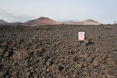 Volcanic mountains, Timanfaya National Park in Lanzarote Island — Stock Photo