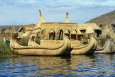 Floating and tourist Islands of lake Titicaca, Peru — Stock Photo