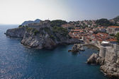 Lanscape of walled city of Dubrovnik, Croatia — Stock Photo
