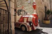 Tourist train in street, Italy — Stock Photo