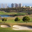 Stock Photo: Golf field in city of Benidorm, Spain