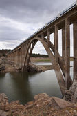 Stone bridge over a lake, Zamora, Spain — Stock Photo