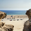 Beach in geologic arein Mazarron — Stock Photo #30063337