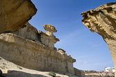 Erosion on rocks formation in Bolnuevo, Murcia, Spain — Stock Photo