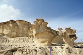Erosion on rocks formation in Bolnuevo, Murcia, Spain — Stock Photo