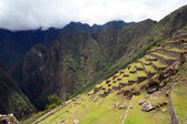 Panoramic of the archeological site Machu Picchu, Cuzco, Peru, s — Stock Photo