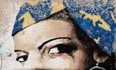 Street art, painted eyes — Stock Photo