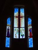 Detail of Stained Glass Window of Castle of La Mola, Alicante, S — Foto de Stock