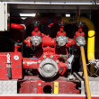 Firemen equipment in fire truck — Stock Photo #35127829
