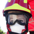 Manikin of a Firefighter — Stock Photo