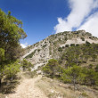 Country road in hills with mountain rock in Alicante, Spain — Stock Photo #38576493