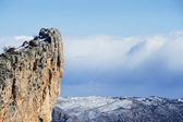 Panoramic of snow mountain in Alicante, Spain — Stock Photo